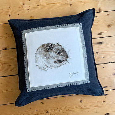 Orkney Vole Linen Cushion