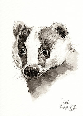 'Little Badger' Original Artwork