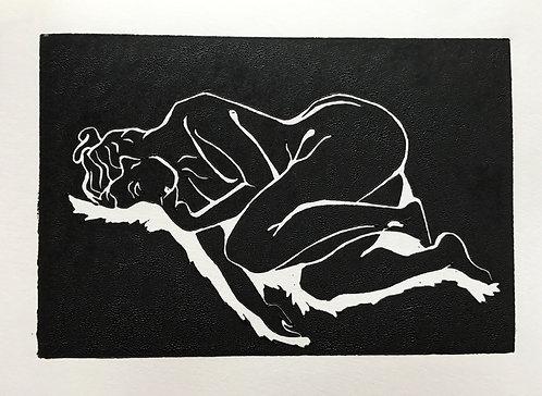 'la belle femme' Original Lino Print