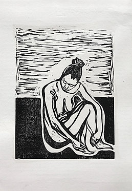 'Reflection'Original Lino Print