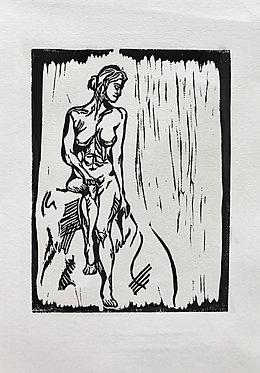 'Noir' Original Lino Print