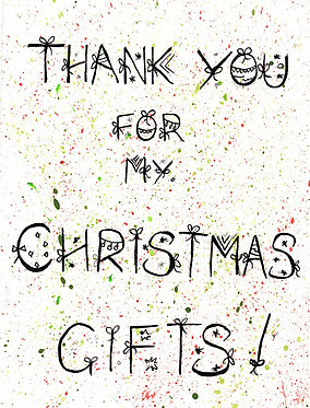 Thank You (Pack of 10 Christmas Cards)