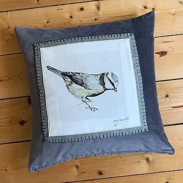 Blue-tit cushion