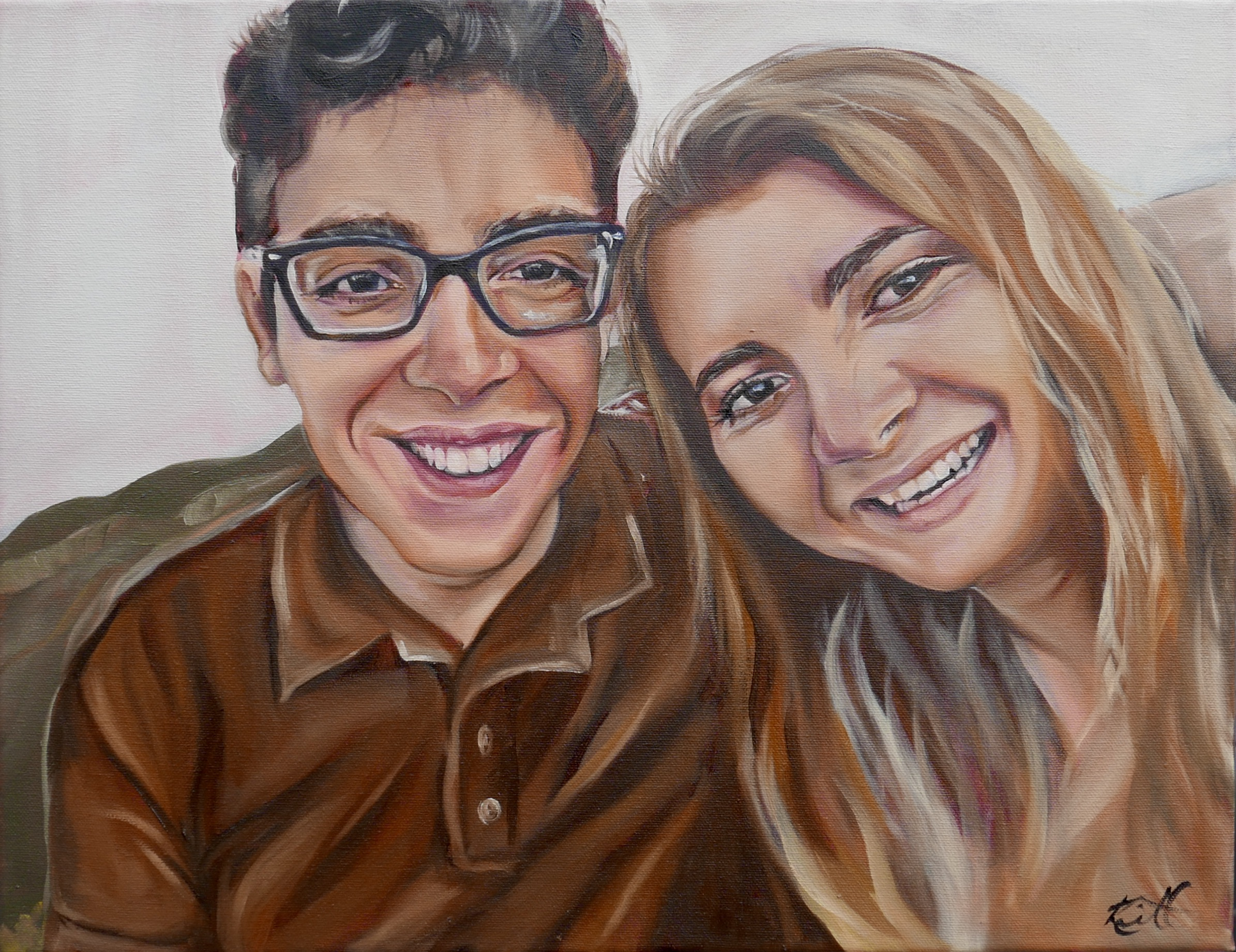 """NHS portrait- Courtney and Pedro"""""