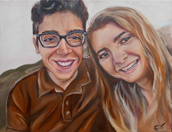 """""""NHS portrait- Courtney and Pedro"""""""""""