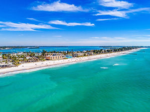 View of the water at Anna Maria in Florida.