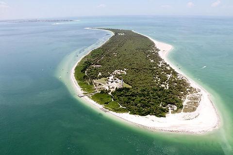 Aerial view of Egmont Key.