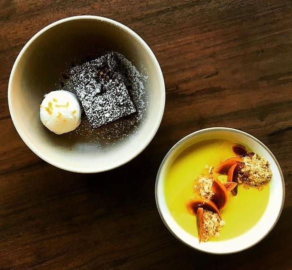 CHOCOLATE TORTE AND PANNA COTTA