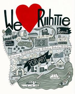 We love Riihitie-juliste