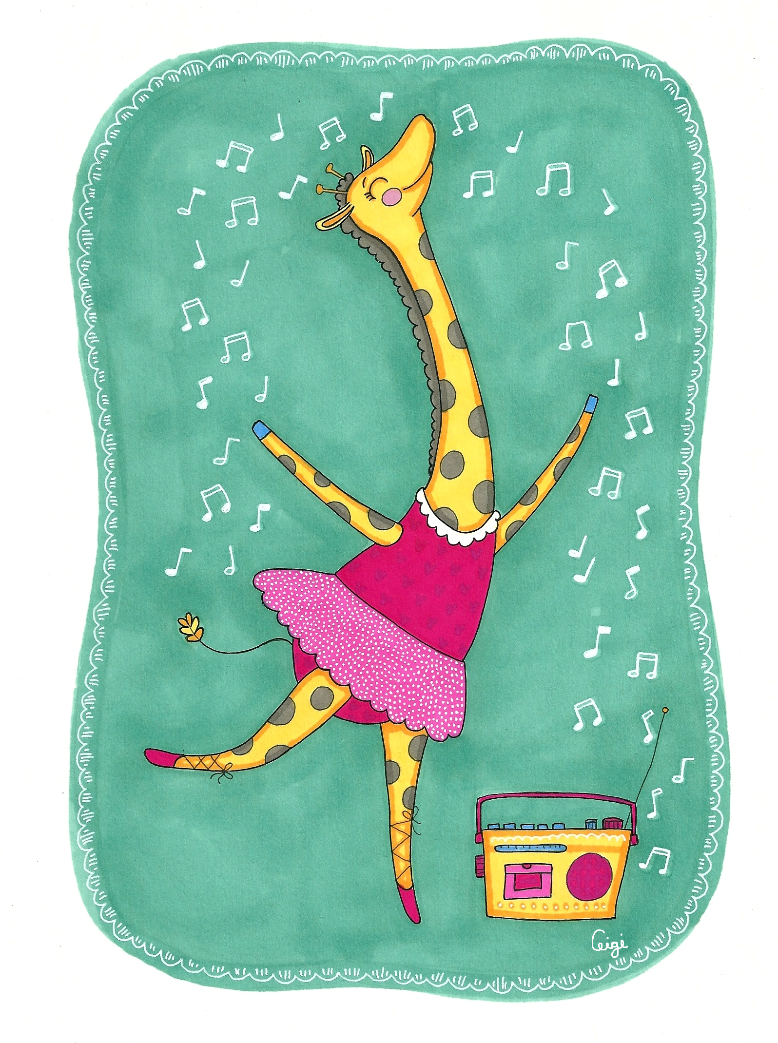 kirahvi tanssii