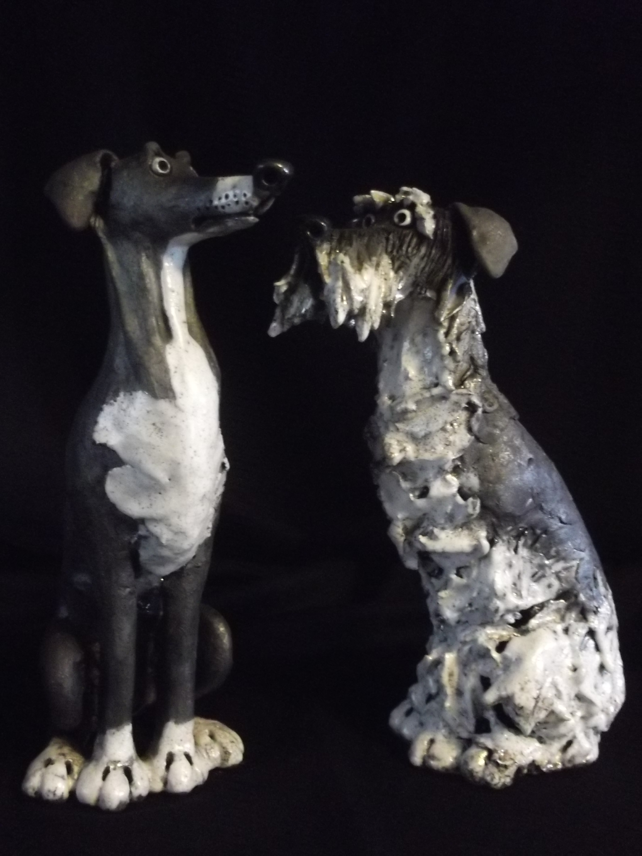 Greyhound and Schnauzer
