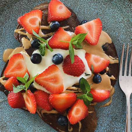 Ashwagandha and Cacao Adaptogenic Pancakes