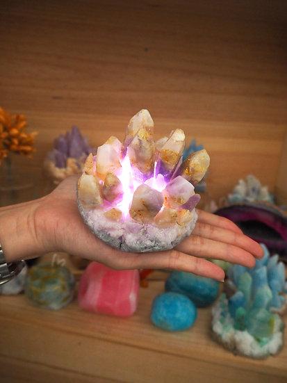 水晶簇蠟燭工作坊