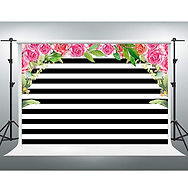 Riverview Entertainment Strips and Flowers Back Drop