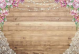 Riverview Entertainment Pink Flowers and Lace Back Drop