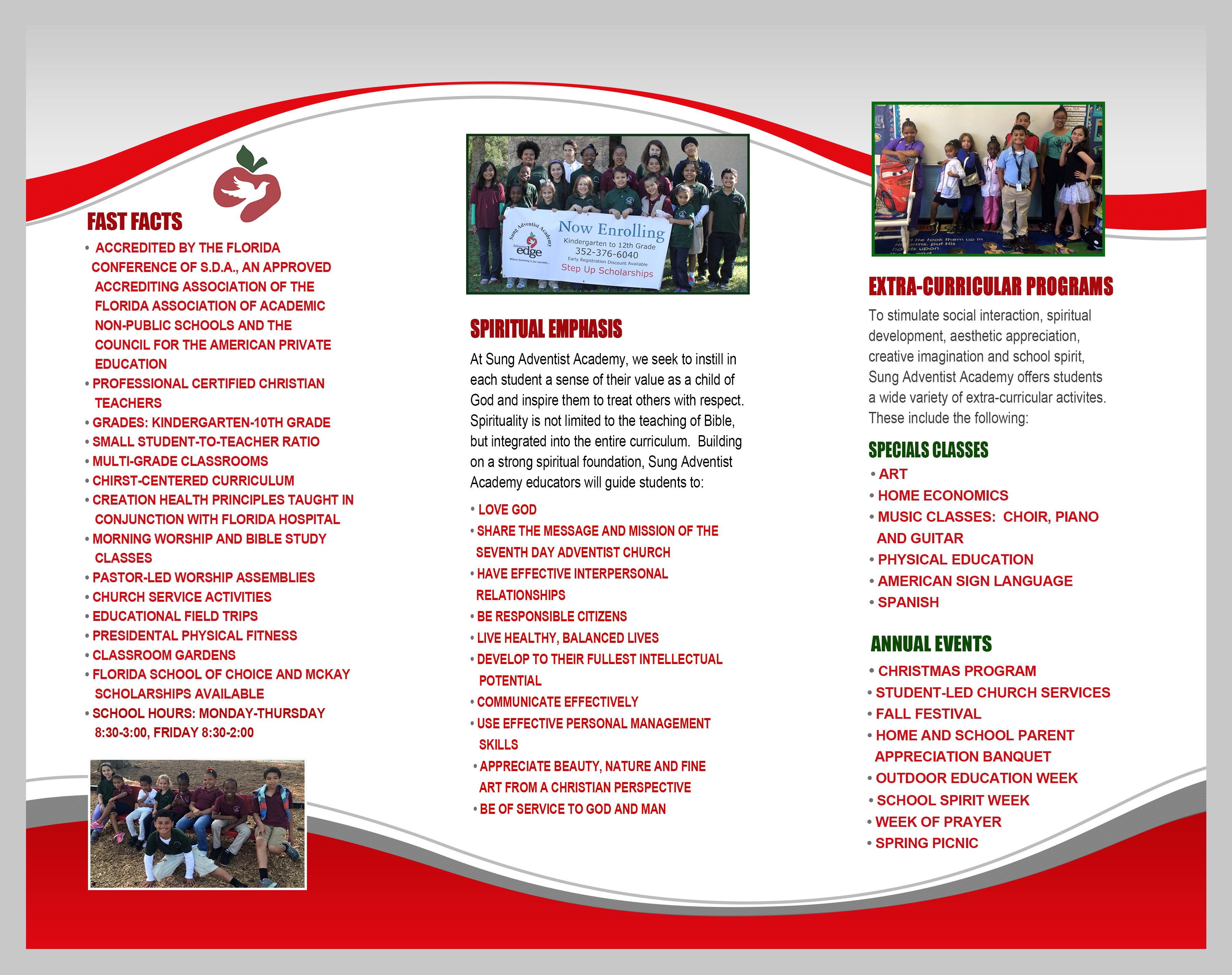 Brochure Sung Adventist Academy