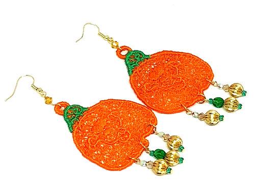 Halloween Smiling Pumpkin Dangle Earrings