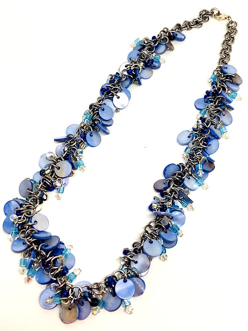 Blue Danube Shaggy Loop Chainmaille Necklace