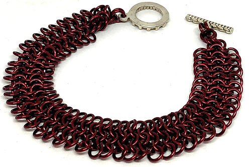 Bronze Dragonscale Chainmaille Bracelet