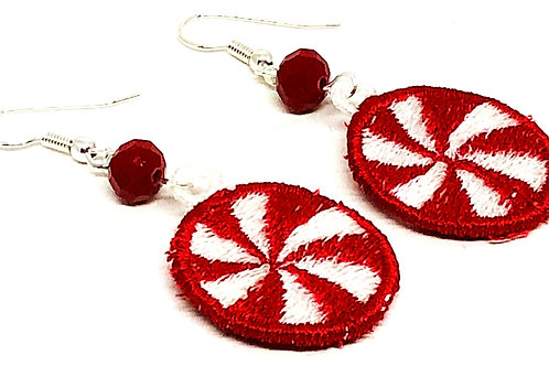 Christmas Peppermint Candy Earrings