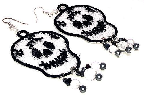 Halloween Skull Dangle Earrings