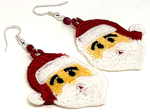 Christmas Santa Face Earrings