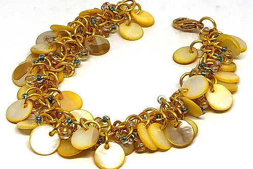 Yellow Shaggy Loop Chainmaille Bracelet