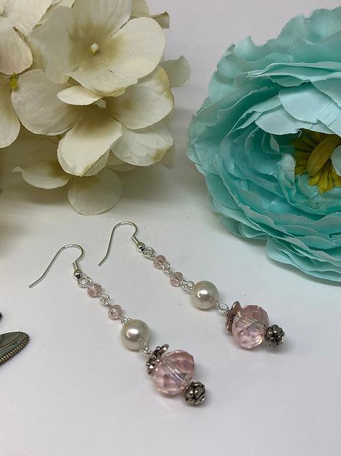 Pink Drop Pearl DangleEarrings