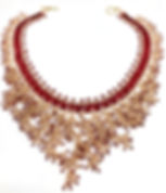 Red Rose Gold Fringe Necklace.jpg