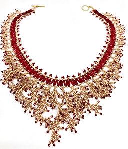 Red Rose Gold Fringe Necklace.jpg