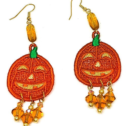 Halloween Pumpkin Dangle Earrings