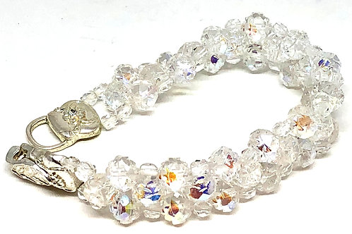 Crystal Rose Beadweaving Bracelet
