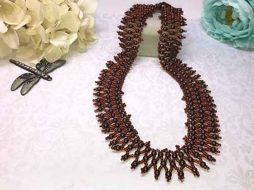 Copper Queen of the Nile Netting Necklace
