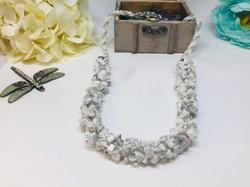 Marble Chip Spiral Necklace