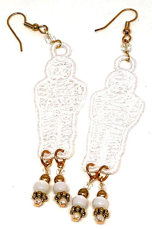 Halloween Mummy Dangle Earrings