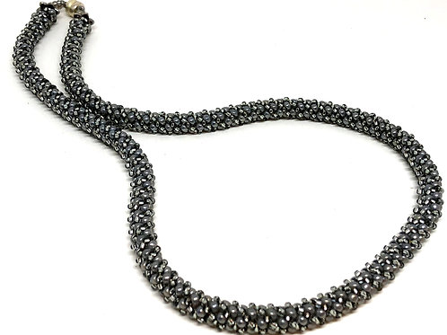 Silver Russian Spiral Beadweaving Necklace