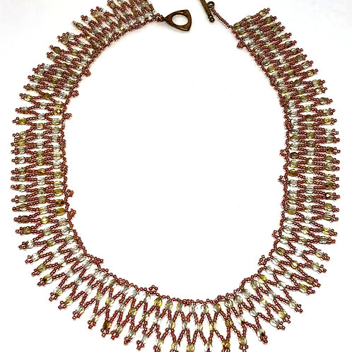 Pink Queen of the Nile Netting Necklace