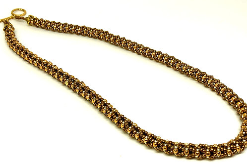 Bronze Gold Beadweaving Necklace
