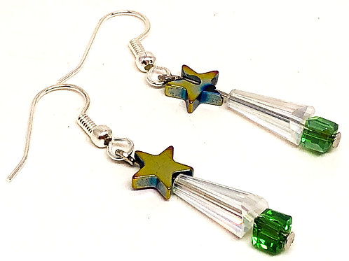 Small Crystal Tree with Star Earrings