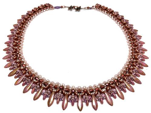 Rose Gold Dagger Beadweaving Necklace