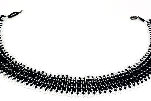 Black and White Beadweaving Necklace