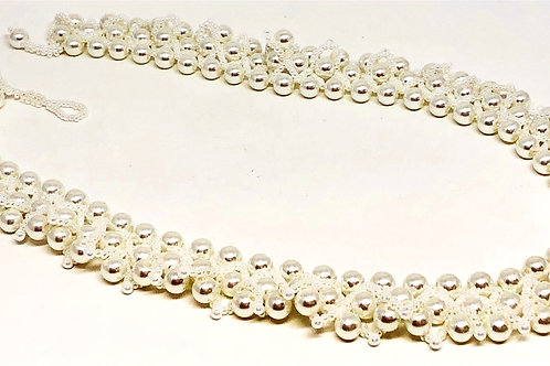 White Pearl Beadweaving Necklace