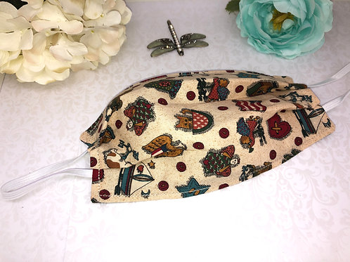 Americana Cotton Face Covering With Elastic