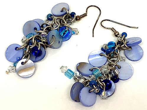 Blue Danube Shaggy Loop Earrings
