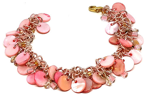 Visions of Pink Shaggy Loop Chainmaille Bracelet