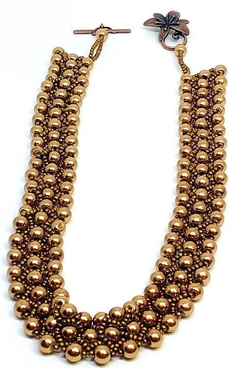 Dark Gold Pearl Necklace