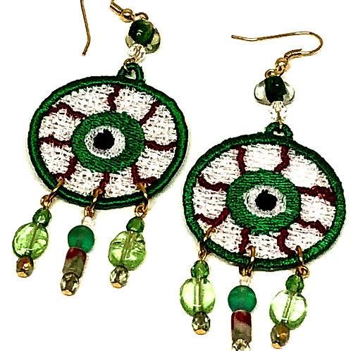 Halloween Eyeball Dangle Earrings