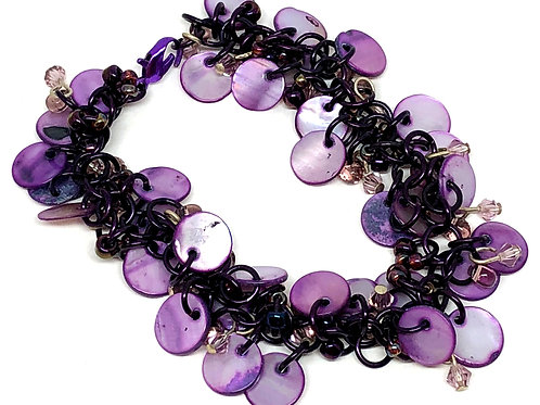 Purple Majesty Shaggy Loop Chainmaille Bracelet