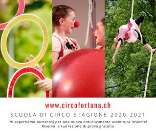Riparte la carovana dei corsi del Circo Fortuna stagione 2020-2021