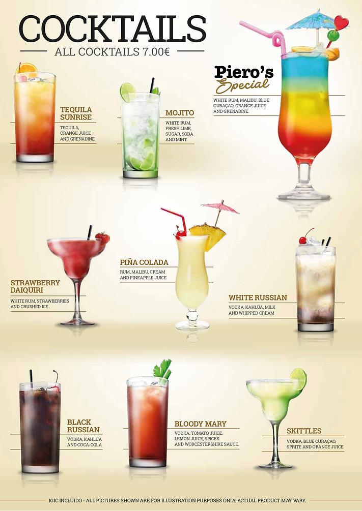 Pieros Cafe - Cocktails 1